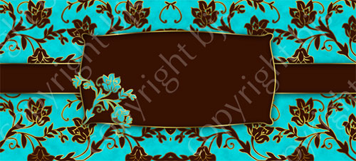 Gold Floral Website Banner Blue